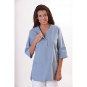 Ladies slip-Tunic, 3/4, Blue, 75 cm