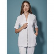 Ladies - Zipper tunic, stretch, 72 cm