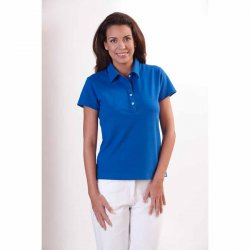 Ladies Polo Shirt-Royal Blue, 1/2, 58 cm