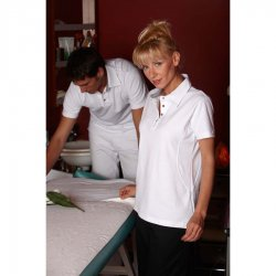 "Ladies Polo Shirt ""white"", ""Cotton Club"", 1/2, 65 cm"