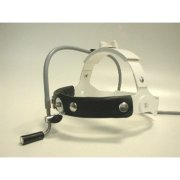 Fiberoptic surgical headlight with high comfort, double-lense