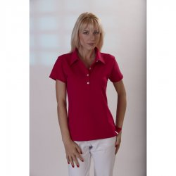 "Ladies Polo Shirt ""Fuchsia"", 1/2, 58 cm"