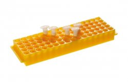 Storage rack PP, 1.5 - 2.0 ml, Positions 5 x 16, yellow